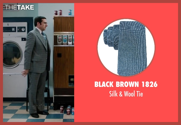 Black Brown 1826 blue tie from Anchorman 2: The Legend Continues seen with Steve Carell (Brick Tamland)