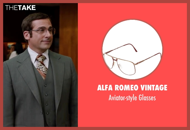 Alfa Romeo Vintage brown glasses from Anchorman 2: The Legend Continues seen with Steve Carell (Brick Tamland)