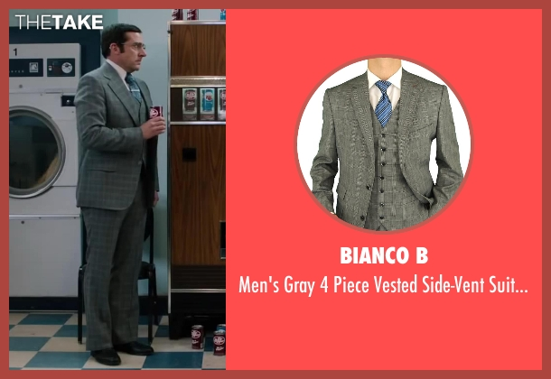 Bianco B gray pants from Anchorman 2: The Legend Continues seen with Steve Carell (Brick Tamland)