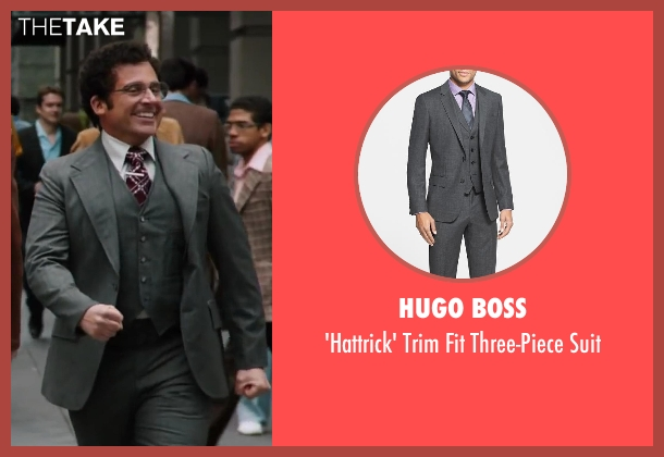Hugo Boss gray suit from Anchorman 2: The Legend Continues seen with Steve Carell (Brick Tamland)