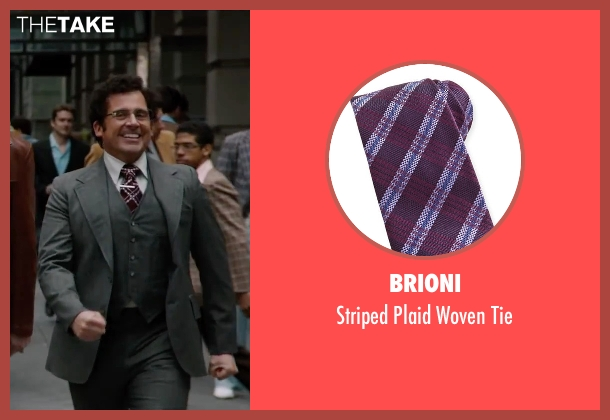 Brioni	 red tie from Anchorman 2: The Legend Continues seen with Steve Carell (Brick Tamland)