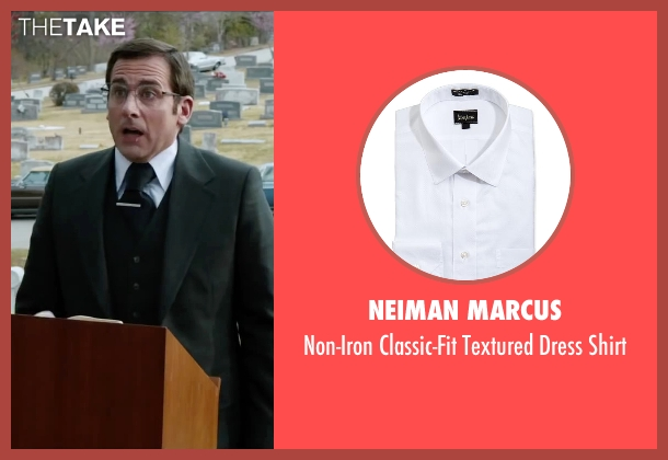Neiman Marcus white shirt from Anchorman 2: The Legend Continues seen with Steve Carell (Brick Tamland)