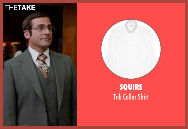 Squire white shirt from Anchorman 2: The Legend Continues seen with Steve Carell (Brick Tamland)