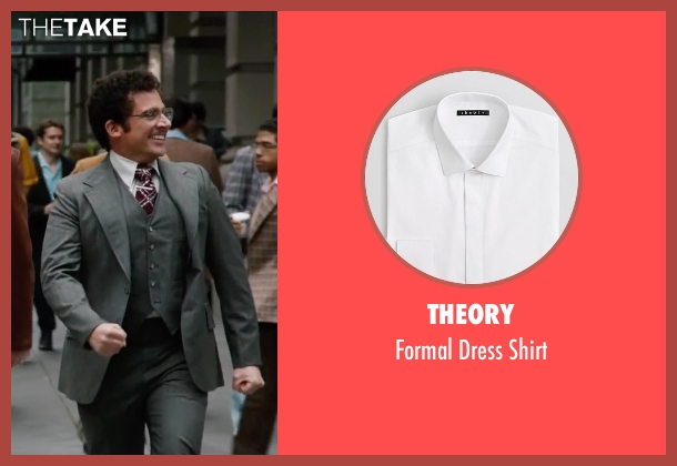 Theory white shirt from Anchorman 2: The Legend Continues seen with Steve Carell (Brick Tamland)