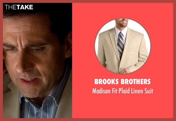 Brooks Brothers beige suit from Crazy, Stupid, Love. seen with Steve Carell (Cal Weaver)