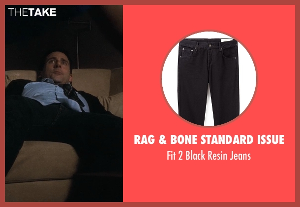 Rag & Bone Standard Issue black jeans from Crazy, Stupid, Love. seen with Steve Carell (Cal Weaver)