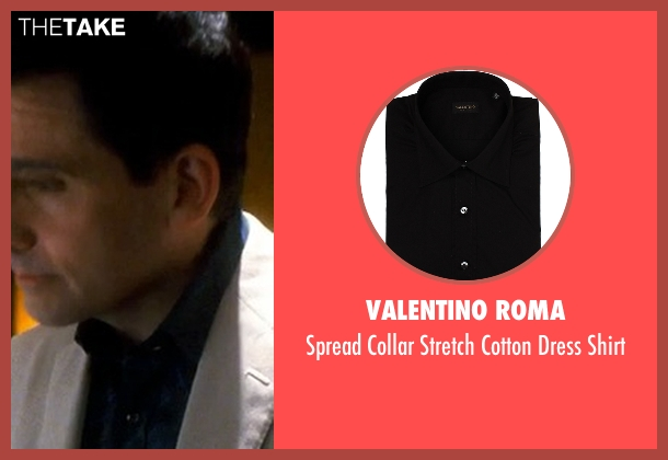 Valentino Roma black shirt from Crazy, Stupid, Love. seen with Steve Carell (Cal Weaver)