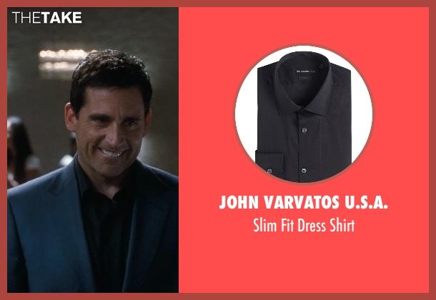 John Varvatos U.S.A. black shirt from Crazy, Stupid, Love. seen with Steve Carell (Cal Weaver)