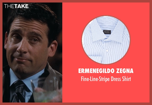 Ermenegildo Zegna blue shirt from Crazy, Stupid, Love. seen with Steve Carell (Cal Weaver)