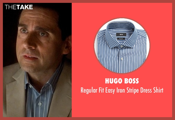 Hugo Boss blue shirt from Crazy, Stupid, Love. seen with Steve Carell (Cal Weaver)