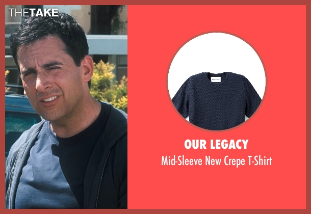 Our Legacy blue t-shirt from Crazy, Stupid, Love. seen with Steve Carell (Cal Weaver)