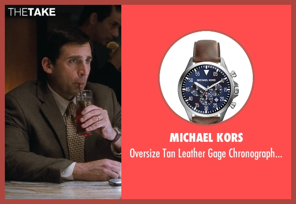 Michael Kors	 brown watch from Crazy, Stupid, Love. seen with Steve Carell (Cal Weaver)
