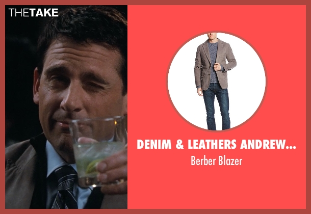 Denim & Leathers Andrew Marc gray blazer from Crazy, Stupid, Love. seen with Steve Carell (Cal Weaver)