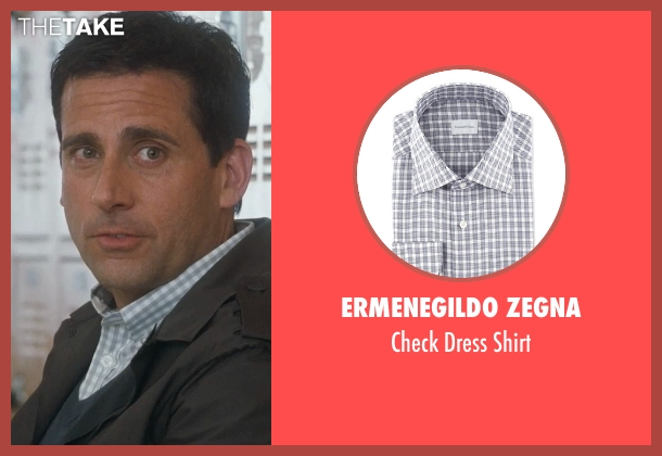 Ermenegildo Zegna gray shirt from Crazy, Stupid, Love. seen with Steve Carell (Cal Weaver)