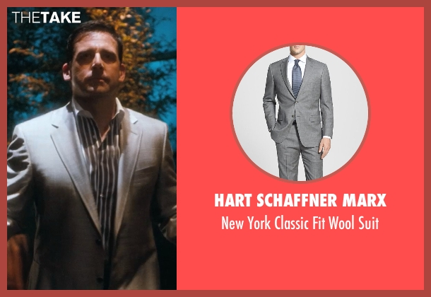Hart Schaffner Marx gray suit from Crazy, Stupid, Love. seen with Steve Carell (Cal Weaver)