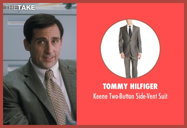 Tommy Hilfiger green suit from Crazy, Stupid, Love. seen with Steve Carell (Cal Weaver)