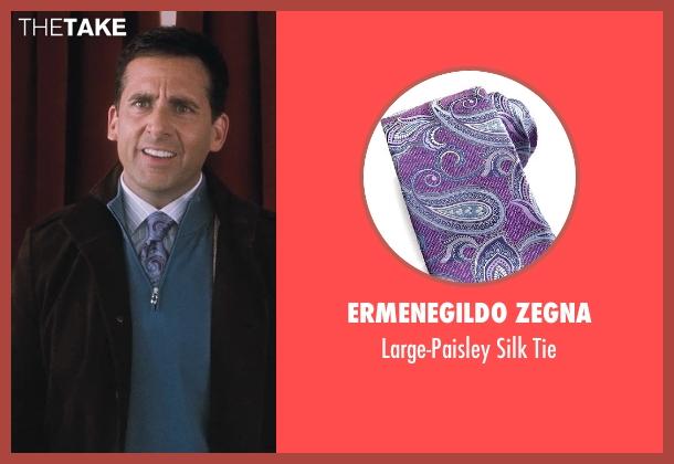 Ermenegildo Zegna purple tie from Crazy, Stupid, Love. seen with Steve Carell (Cal Weaver)