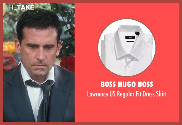 Boss Hugo Boss white shirt from Crazy, Stupid, Love. seen with Steve Carell (Cal Weaver)