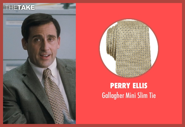 Perry Ellis yellow tie from Crazy, Stupid, Love. seen with Steve Carell (Cal Weaver)