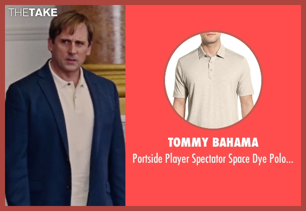 Tommy Bahama beige shirt from The Big Short seen with Steve Carell (Mark Baum)