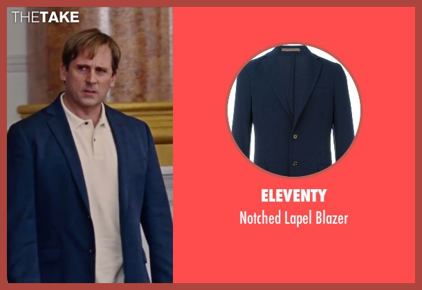 Eleventy blue blazer from The Big Short seen with Steve Carell (Mark Baum)