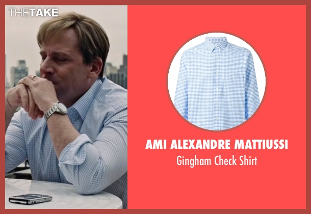 Ami Alexandre Mattiussi blue shirt from The Big Short seen with Steve Carell (Mark Baum)