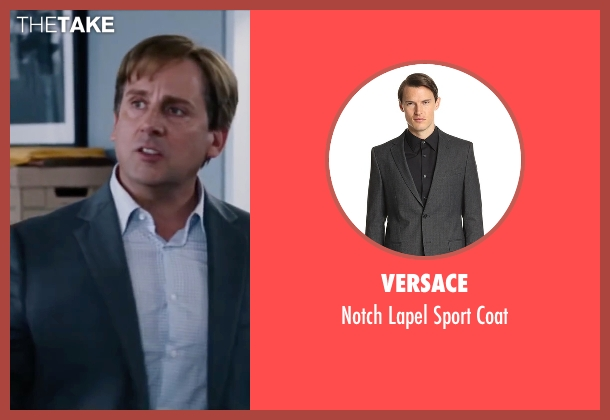 Versace gray coat from The Big Short seen with Steve Carell (Mark Baum)