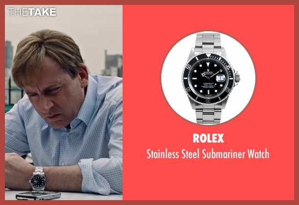Rolex silver watch from The Big Short seen with Steve Carell (Mark Baum)