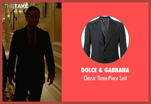 Dolce & Gabbana black suit from Focus seen with Steve Kim (Bodyguard #1)