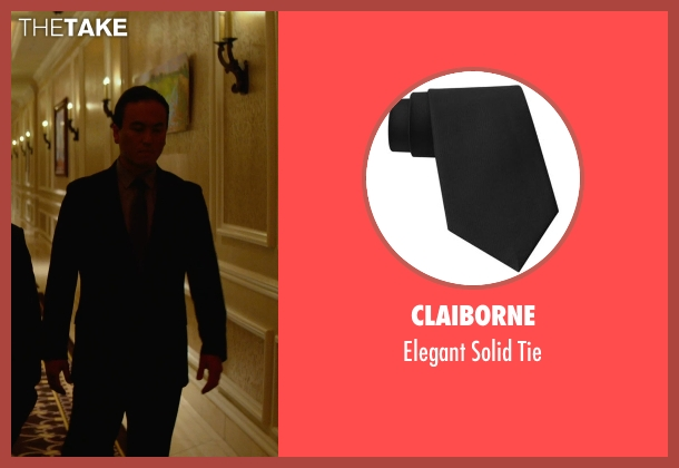 Claiborne black tie from Focus seen with Steve Kim (Bodyguard #1)