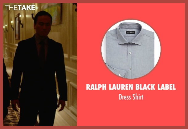 Ralph Lauren Black Label gray shirt from Focus seen with Steve Kim (Bodyguard #1)