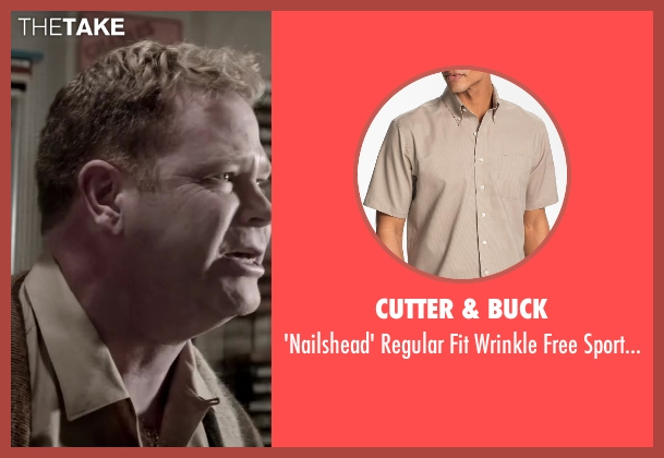 Cutter & Buck beige shirt from Jersey Boys seen with Steve Monroe (Barry Belson)