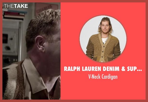 Ralph Lauren Denim & Supply brown cardigan from Jersey Boys seen with Steve Monroe (Barry Belson)