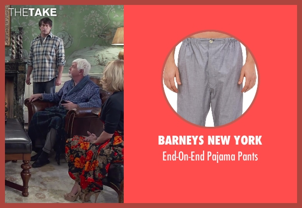 Barneys New York gray pants from Dumb and Dumber To seen with Steve Tom (Dr. Pichlow)