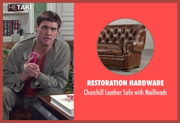 Restoration Hardware nailheads from Dumb and Dumber To seen with Steve Tom (Dr. Pichlow)