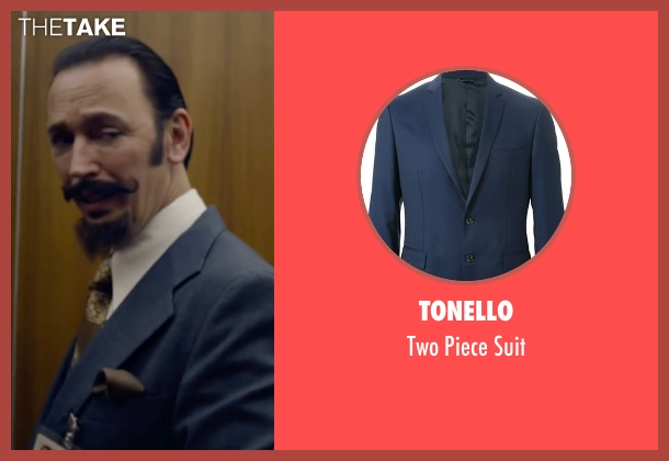 Tonello blue suit from The Walk seen with Steve Valentine (Barry Greenhouse)