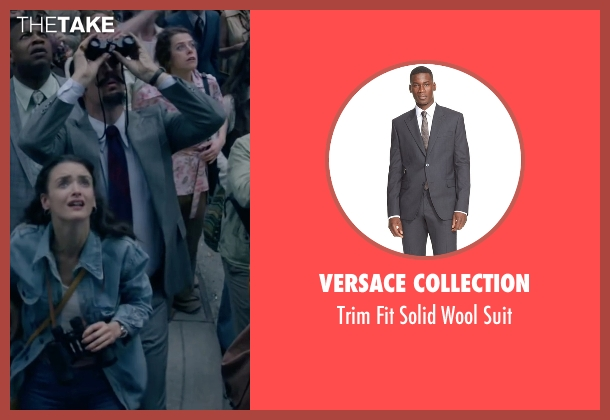 Versace Collection gray suit from The Walk seen with Steve Valentine (Barry Greenhouse)