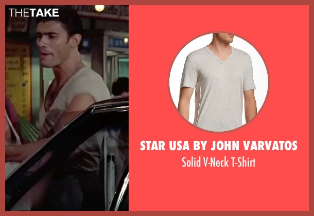 Star USA By John Varvatos beige t-shirt from Scarface seen with Steven Bauer (Manny Ribera)