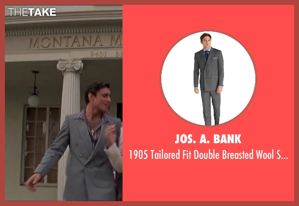 Jos. A. Bank gray suit from Scarface seen with Steven Bauer (Manny Ribera)