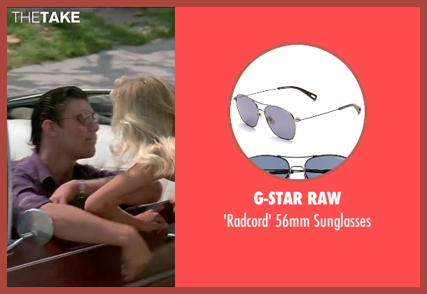 G-Star Raw purple sunglasses from Scarface seen with Steven Bauer (Manny Ribera)