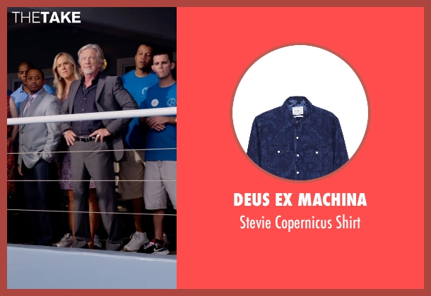 Deus Ex Machina blue shirt from Dolphin Tale 2 seen with Steven Heinz (Tourist / CMA Staff)