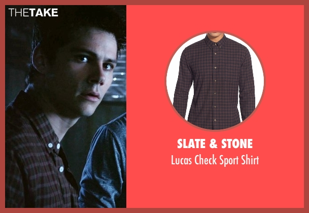 Slate & Stone brown shirt from Teen Wolf seen with Stiles Stilinski / Nogitsune (Dylan O'Brien)