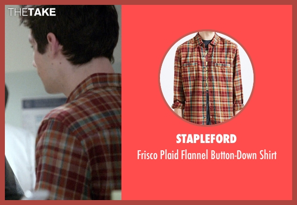 Stapleford orange shirt from Teen Wolf seen with Stiles Stilinski / Nogitsune (Dylan O'Brien)