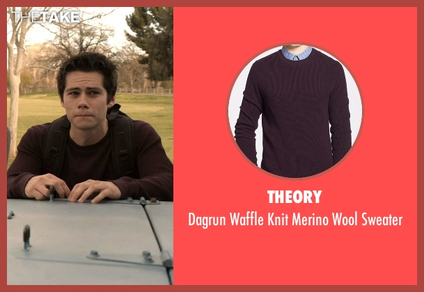 Theory red sweater from Teen Wolf seen with Stiles Stilinski / Nogitsune (Dylan O'Brien)