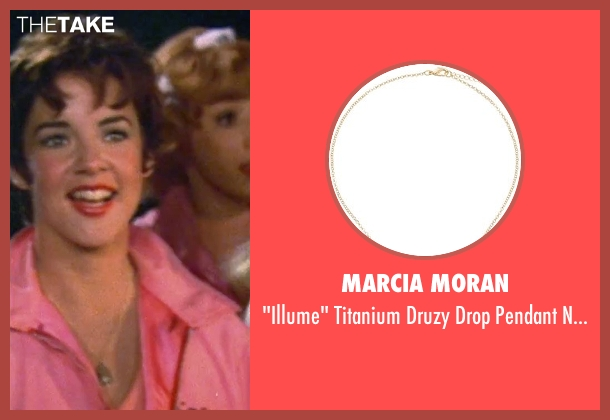 Marcia Moran silver necklace from Grease seen with Stockard Channing (Rizzo)