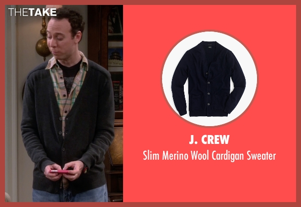 J. Crew black sweater from The Big Bang Theory seen with Stuart Bloom (Kevin Sussman)
