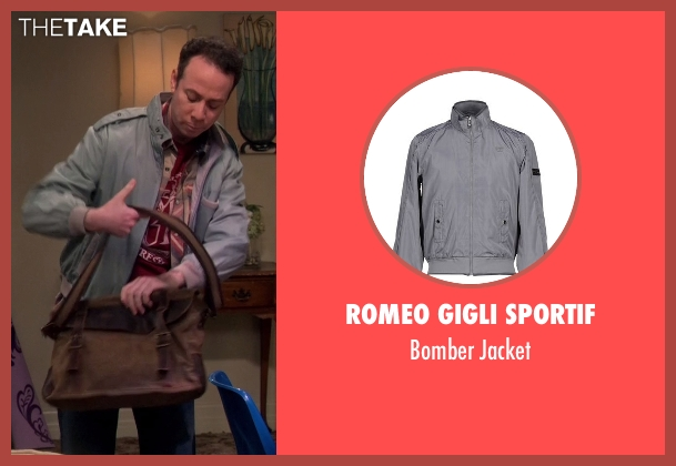 Romeo Gigli Sportif gray jacket from The Big Bang Theory seen with Stuart Bloom (Kevin Sussman)