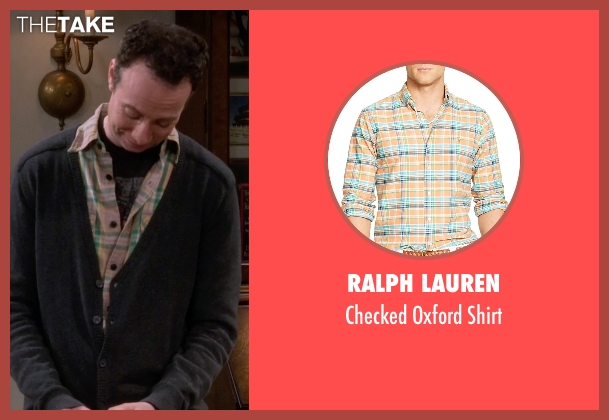 Ralph Lauren orange shirt from The Big Bang Theory seen with Stuart Bloom (Kevin Sussman)