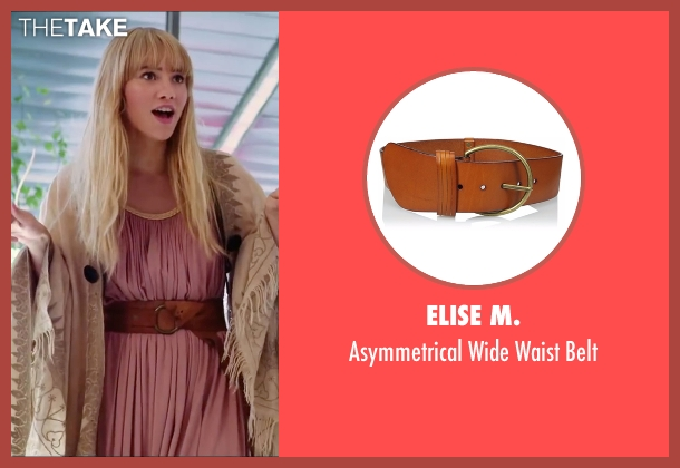 Elise M. brown belt from Love, Rosie seen with Suki Waterhouse (Bethany)
