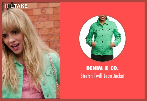 Denim & Co. green jacket from Love, Rosie seen with Suki Waterhouse (Bethany)